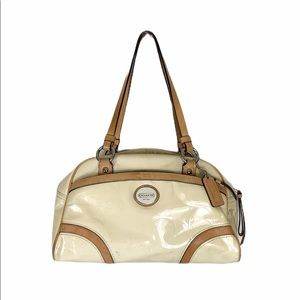 Coach Peyton Embossed Patent Leather Satchel